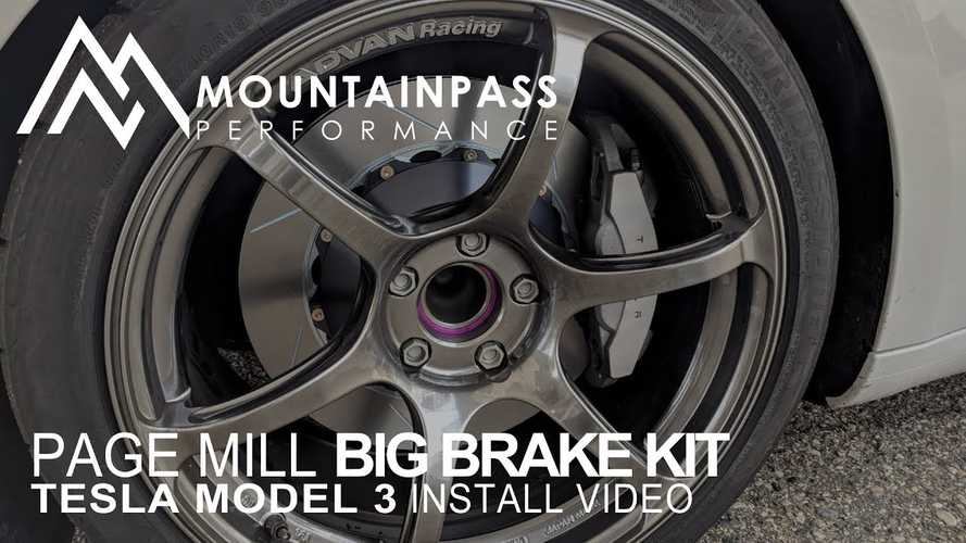 Watch This Big Brake Install On Tesla Model 3