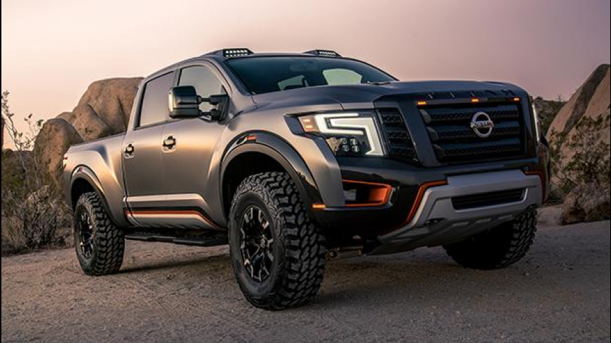 Nissan Titan Warrior Concept, pick-up in armatura