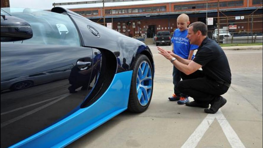Bugatti Veyron, il sogno di un bimbo malato diventa realtà [VIDEO]