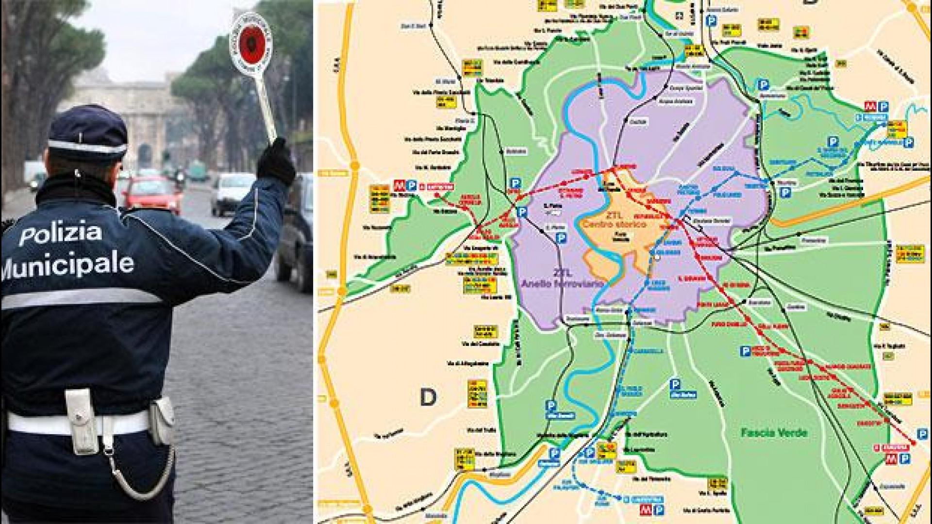 Cartina Della Fascia Verde A Roma.Roma Targhe Alterne Il 17 E 18 Dicembre