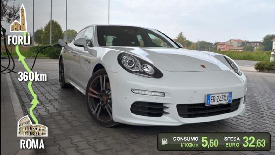 Porsche Panamera Diesel, la prova dei consumi