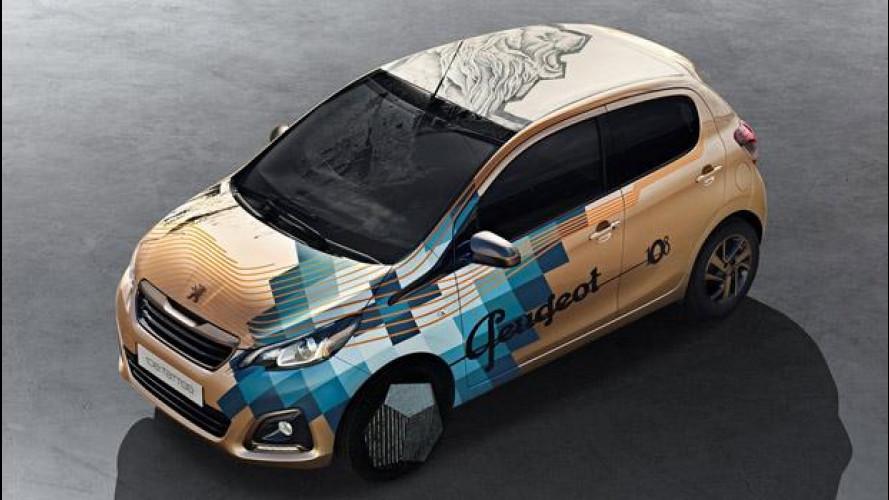 Peugeot 108 Tattoo concept: l'auto cambia pelle