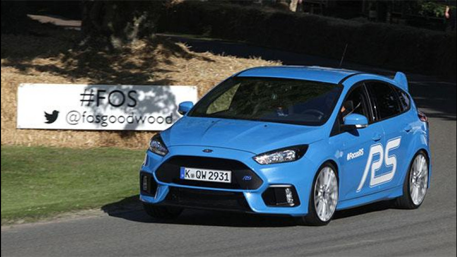Ford Focus RS, il battesimo di Goodwood con 350 CV