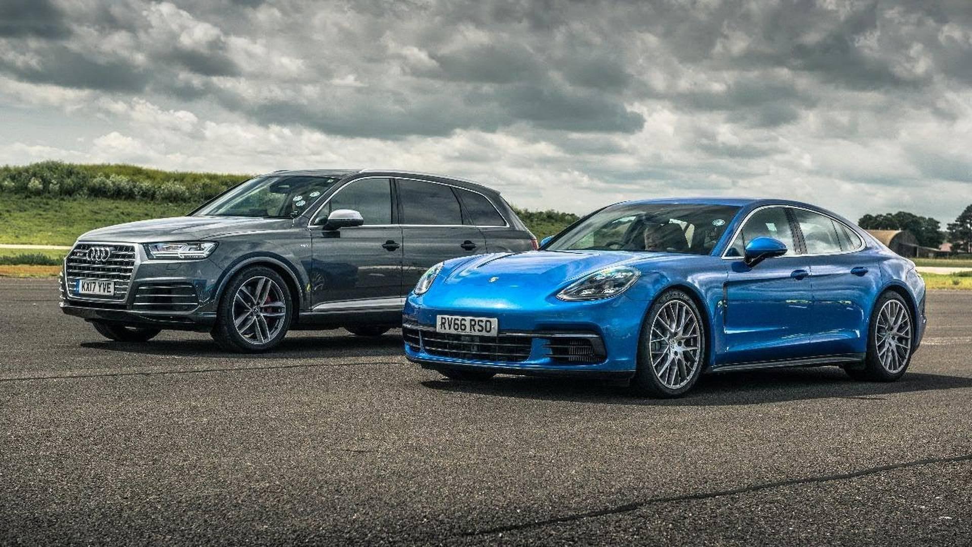 Diesel Duel Audi Sq7 Versus Porsche Panamera 4s In Drag Race