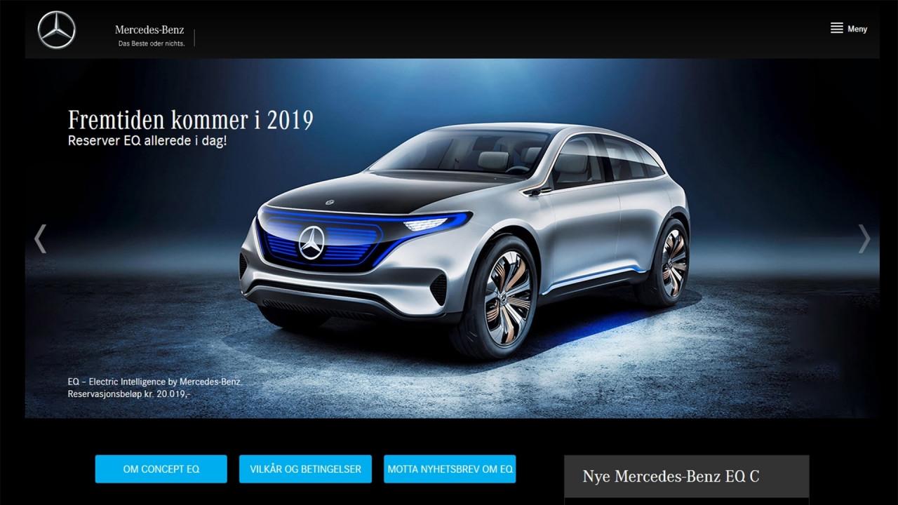 [Copertina] - Mercedes EQC, in Norvegia si ordina già il SUV elettrico