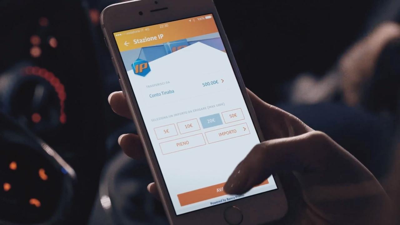 [Copertina] - IP, il carburante si paga con l'app Tinaba