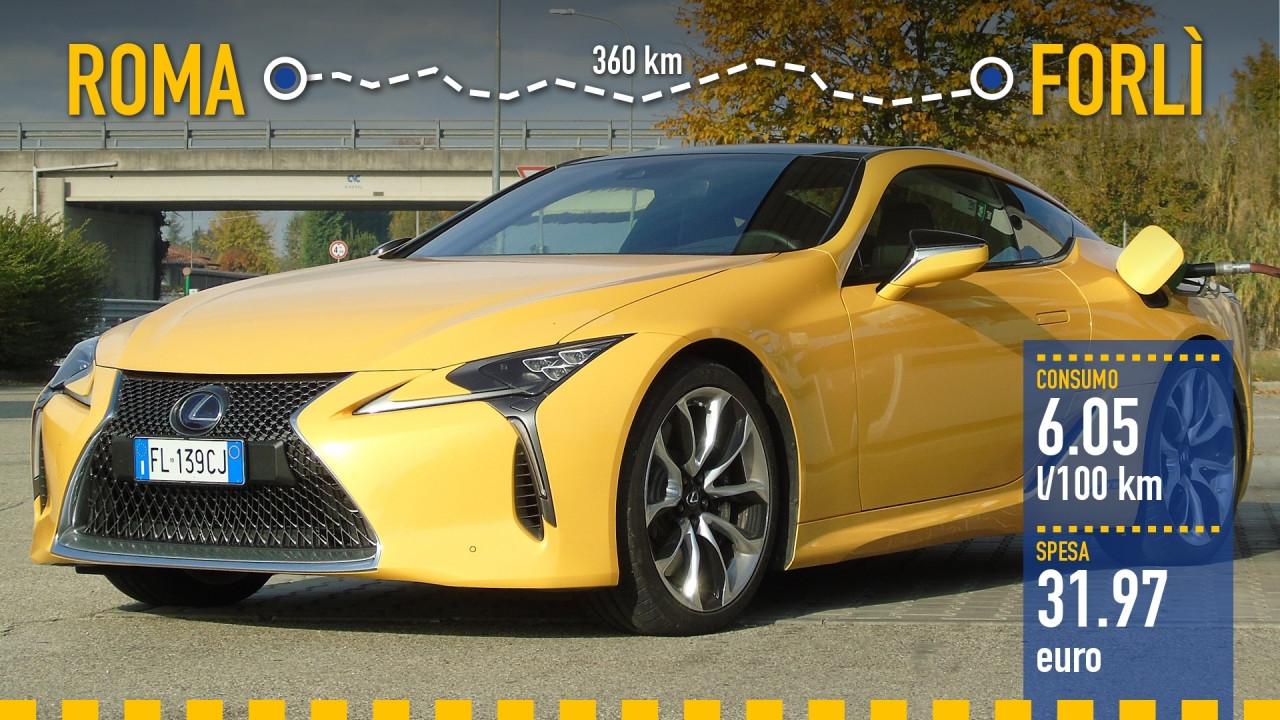 [Copertina] - Lexus LC Hybrid, la prova dei consumi reali