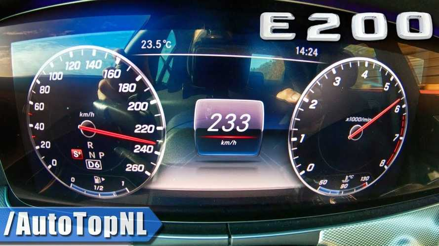 Mercedes E200 Top Speed Run Shows Not All Base Models Are Slow