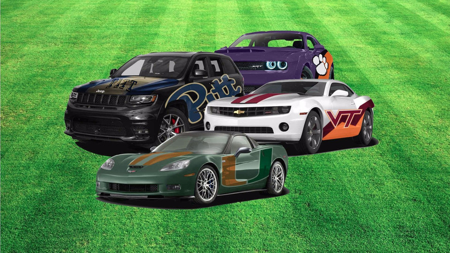 Check Out These Cars Reimagined As College Football Teams