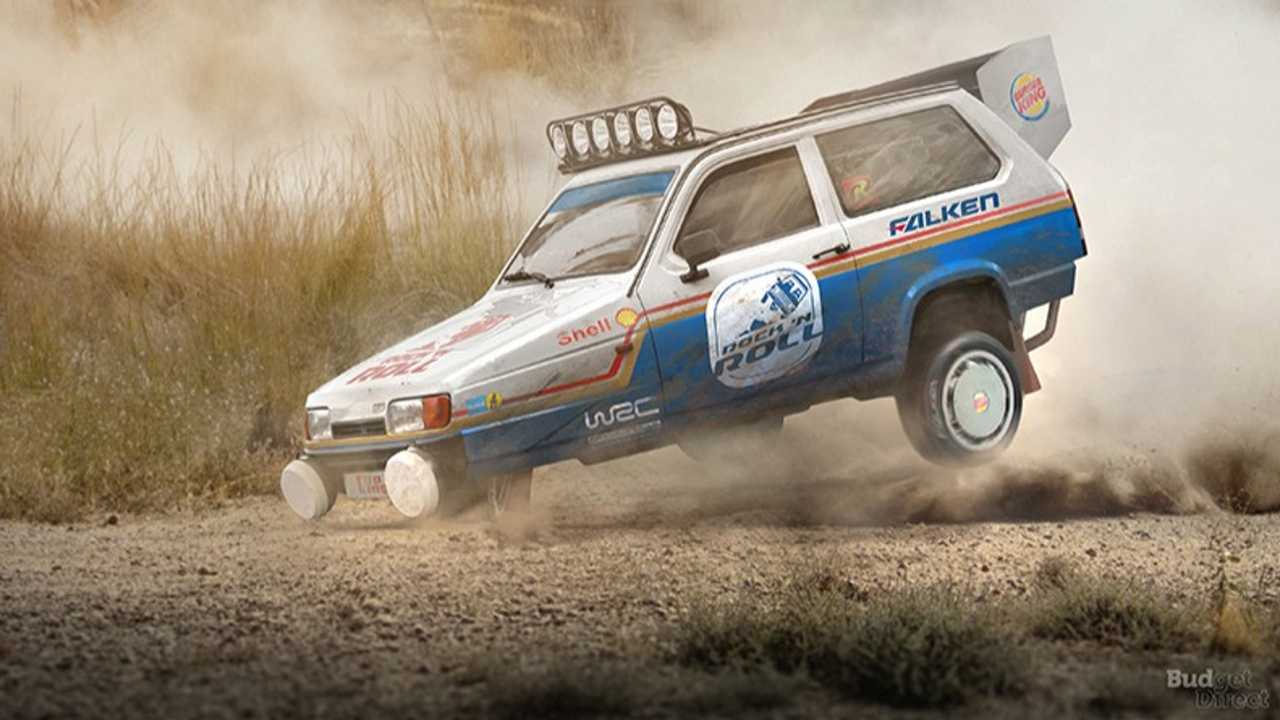 8. Reliant Robin Rally Car