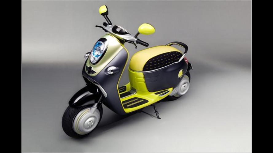 Mini Scooter E Concept: Elektro-Roller mit Blinzel-Blick