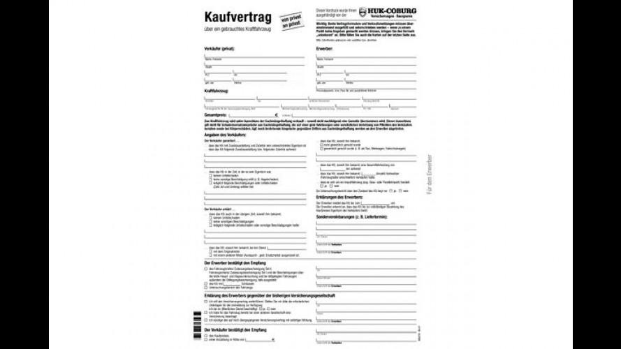 Gebrauchtkauf: Kaufvertragsformular zum Ausdrucken