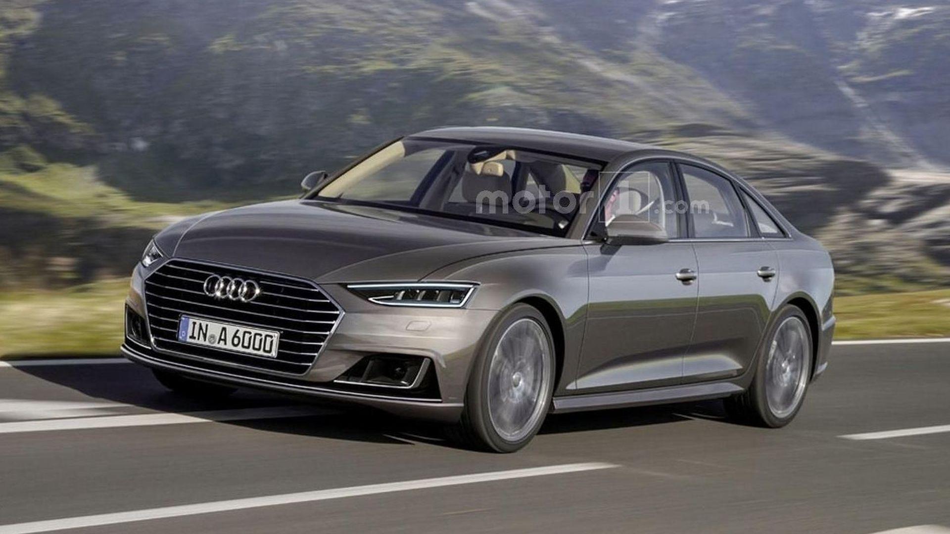 מודרניסטית 2017 Audi A6 rendered with Prologue concept traits OW-46