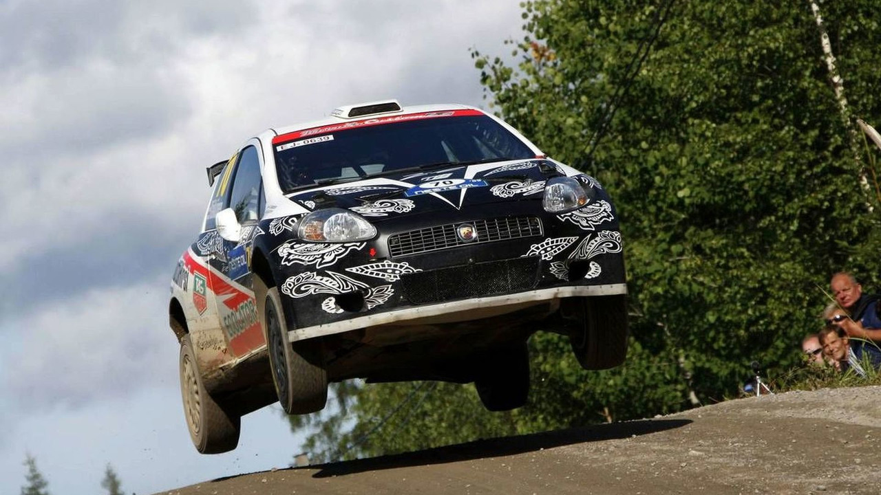 Kimi Raikkonen (FIN) Kaj Lindstrom (FIN), Fiat Grande Punto S2000 - World Rally Championship 2009, Rd. 9