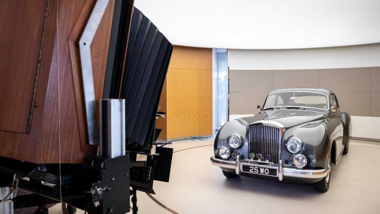 Bentley centenary book shot with rare Polaroid