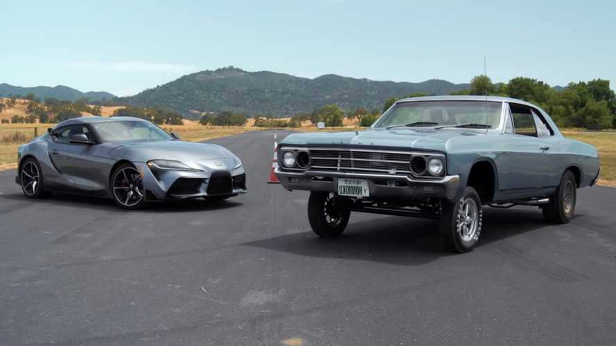 Watch A 1966 Buick Drag Race Today's Toyota Supra