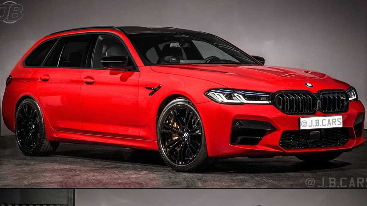 BMW M5 Wagon Rendering