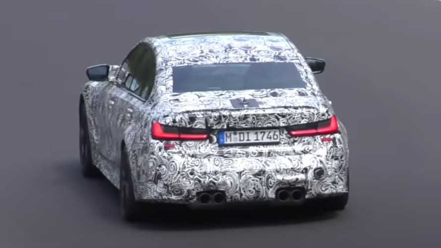 2021 BMW M3 Spied With Beefy Exhaust Could Be The Competition Model