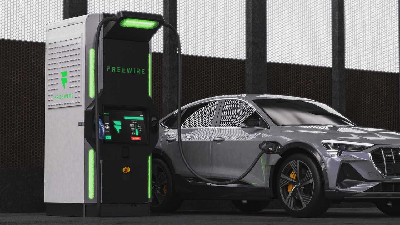 FreeWire Boost Charger and the Audi e-tron Sportback