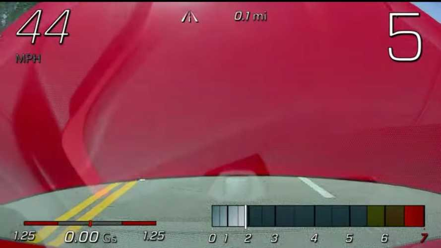 Dash Cam Catches Corvette C8 Hood Flying Open While Driving