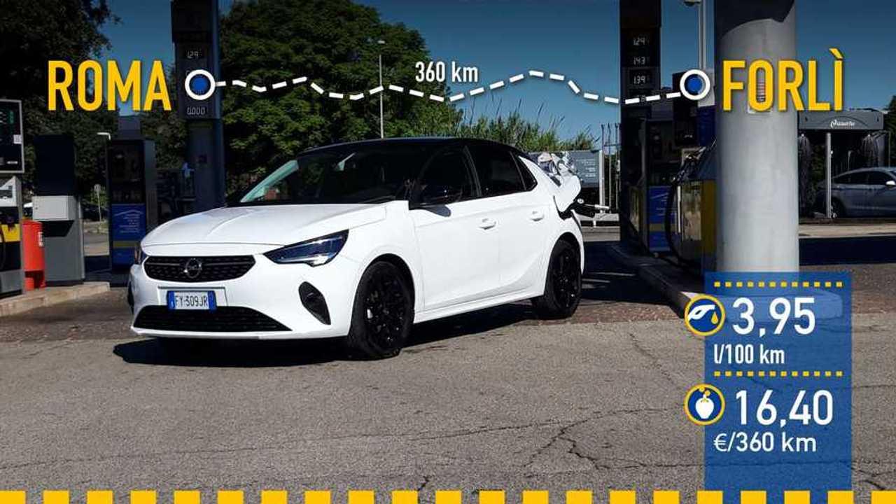 Opel Corsa 1.2 75 CV, prueba de consumo
