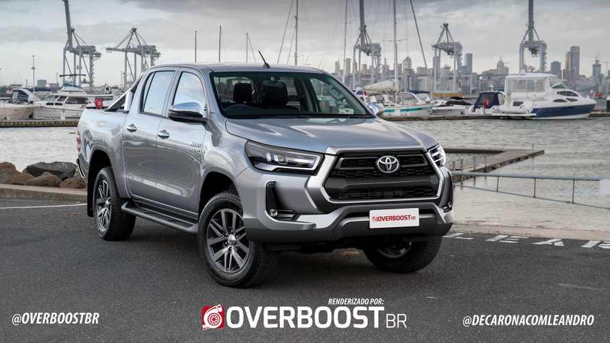 Nova Toyota Hilux 2021 tem versão de produção antecipada em projeção