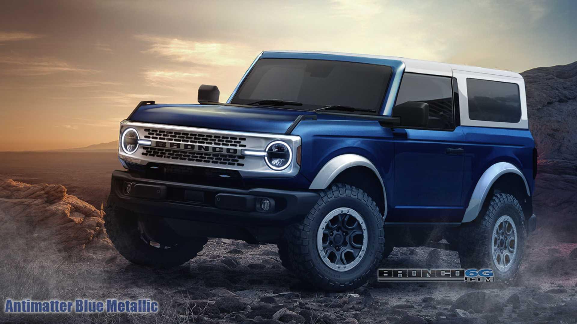 2021 Ford Bronco Renderings Show Off Colors In 2 4 Door Flavors