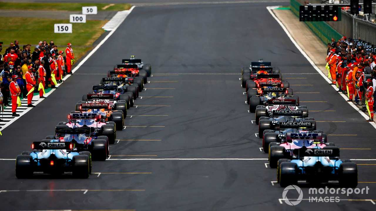 British GP 2019 rear of the grid on formation lap