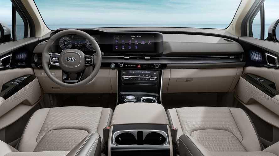 Nova Kia Carnival 2021, minivan com jeitão de SUV, revela interior luxuoso