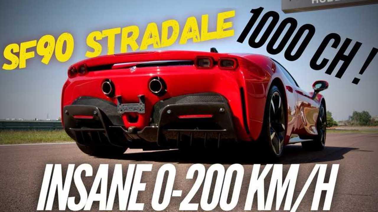 Ferrari SF90 Stradale gyorsulás