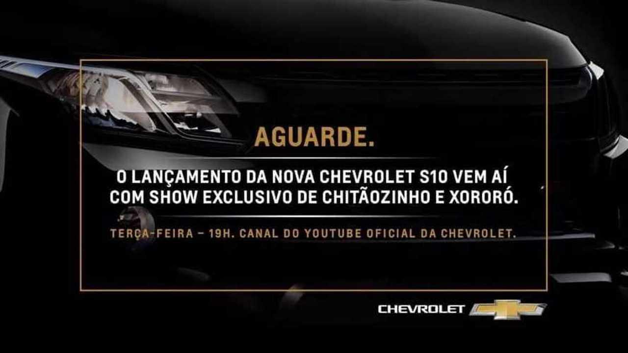 Chevrolet S10 2020 - Data da apresentação