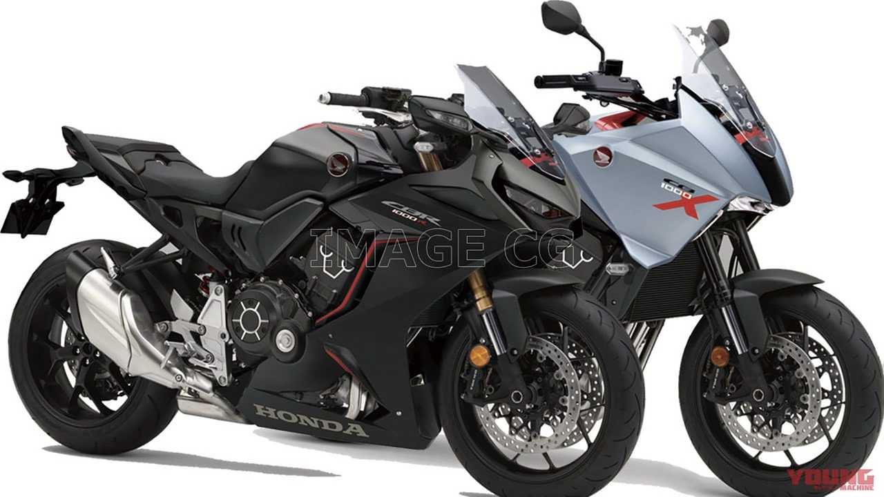 Honda CB1000X and CBR1000R Renders Young Machine