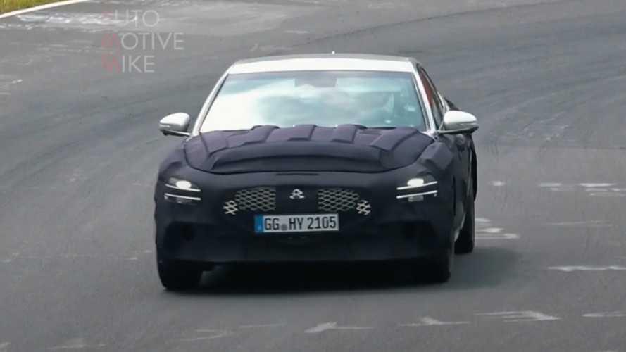 Видео: обновленный Genesis G70 заметили на Нюрбургринге