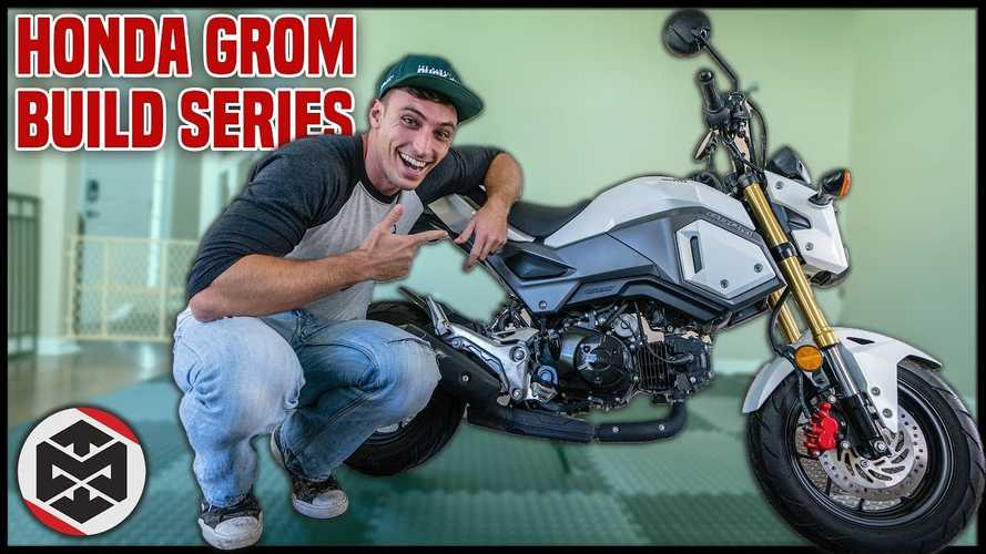 Watch This Guy Turn A Honda Grom Into A 300cc Drag Bike