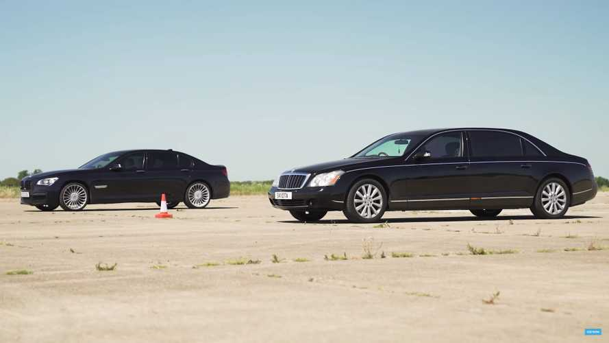 BMW 760Li drag races Maybach 62 to show power isn't everything