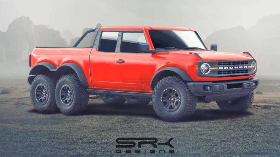 Посмотрите на новый Ford Bronco в образе пикапа 6х6