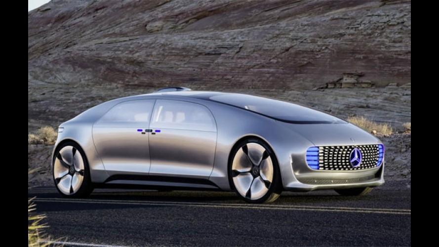 """Conceito autônomo da Mercedes percorrerá mais de 1.000 km com um """"tanque"""""""
