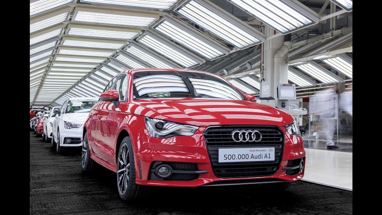 Audi A1: marca comemora 500 mil unidades produzidas com visita de rei