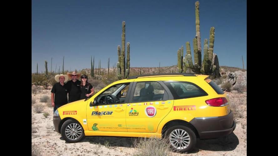 Expedição com Fiat Palio elétrico já passou dos 10.000 km rodados