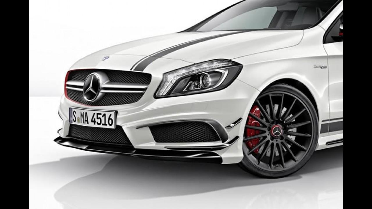 Emblema da grade Brilhoso Mercedes-a45-amg-edition-1-ainda-mais-esportivo
