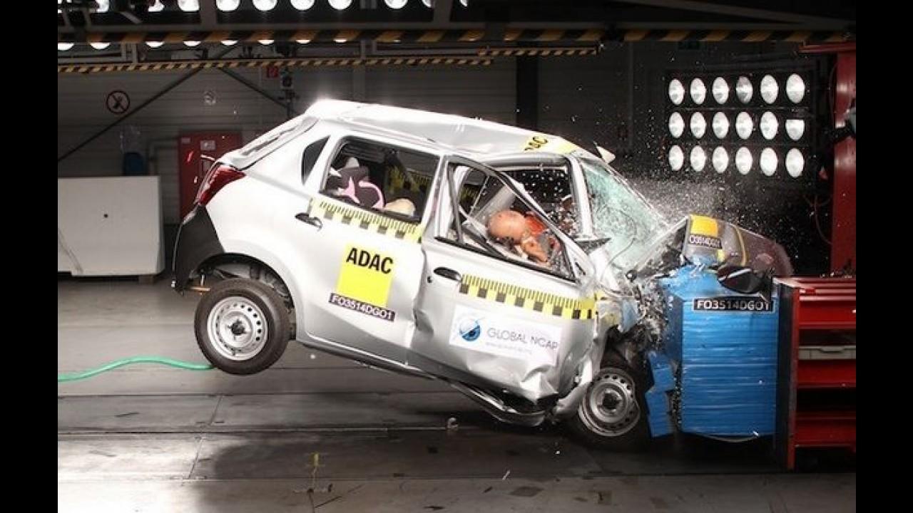 Após fiasco em crash-test, Nissan diz que Datsun Go é bom em segurança ativa