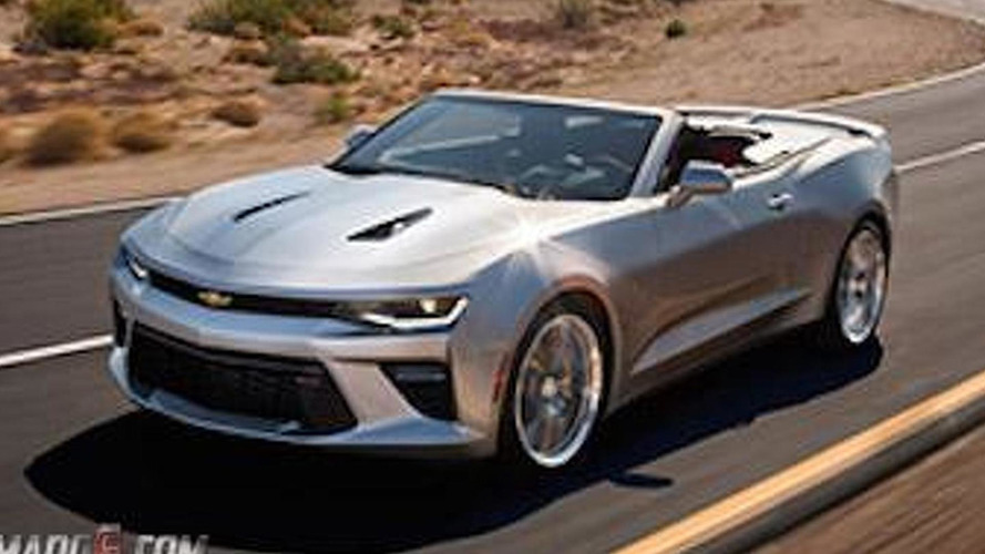 2016 Chevrolet Camaro Convertible leaked