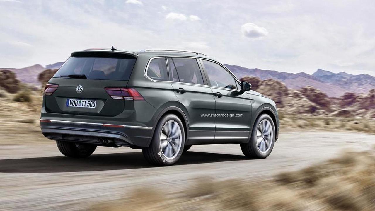 2017 Volkswagen Tiguan seven-seat render