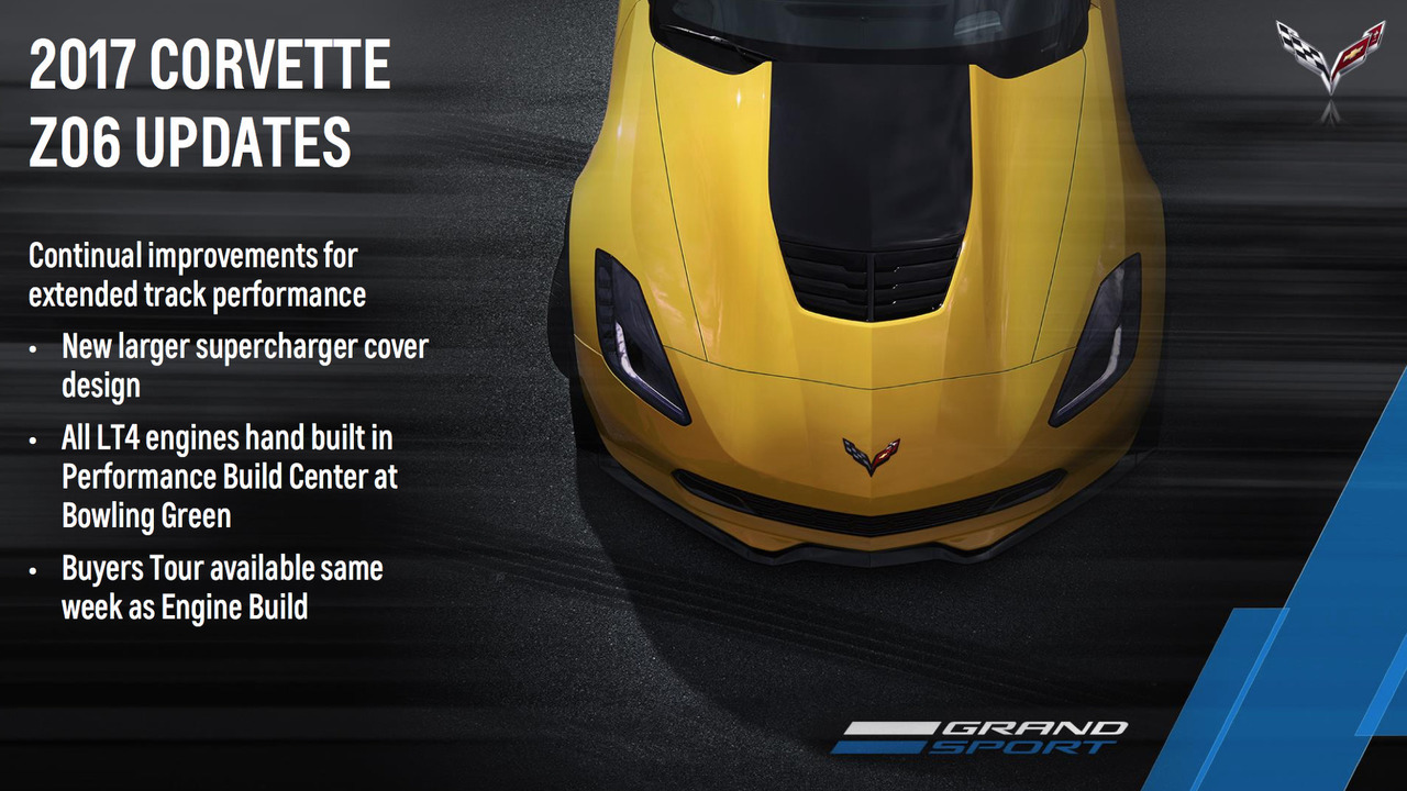 2017 Chevrolet Corvette Z06 updates