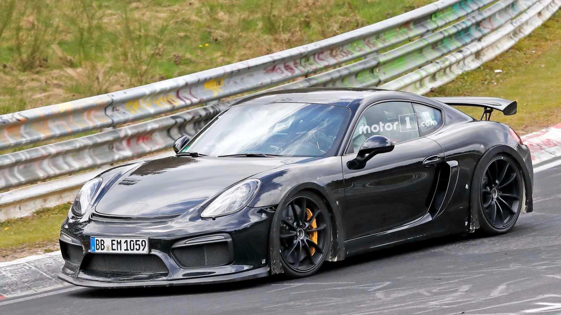 Porsche Gt4 Rs >> Porsche Cayman Gt4 Rs Spied Exercising Flat Six At Nurburgring