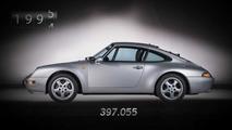 Sept générations de Porsche 911