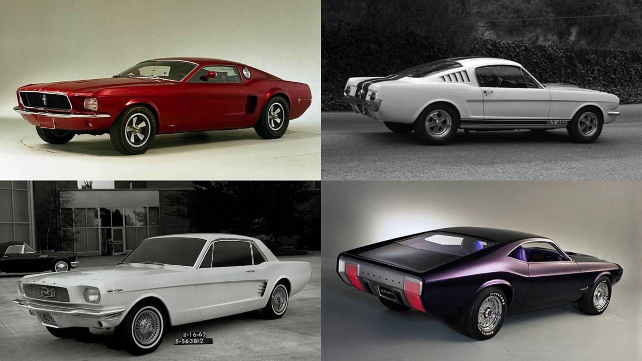 10 ford mustang concepts that shaped the 10 millionth mustang. Black Bedroom Furniture Sets. Home Design Ideas