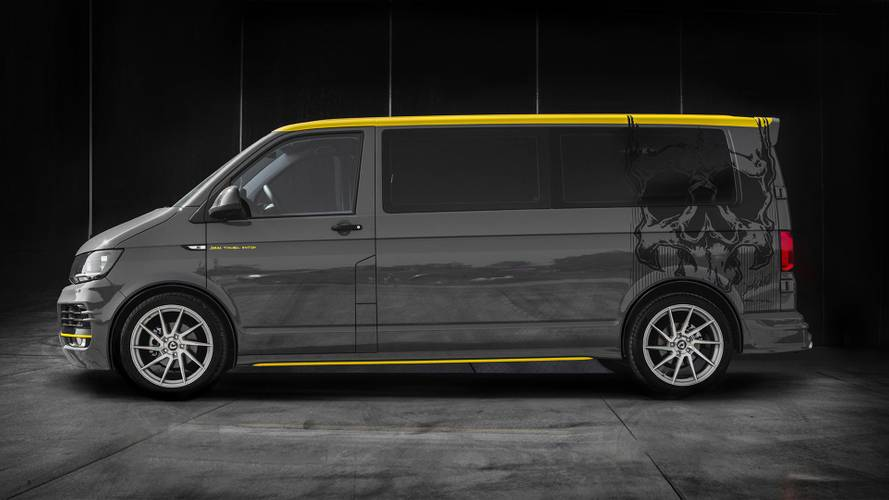 Skull motif VW T6 is made for the metal music lover in you