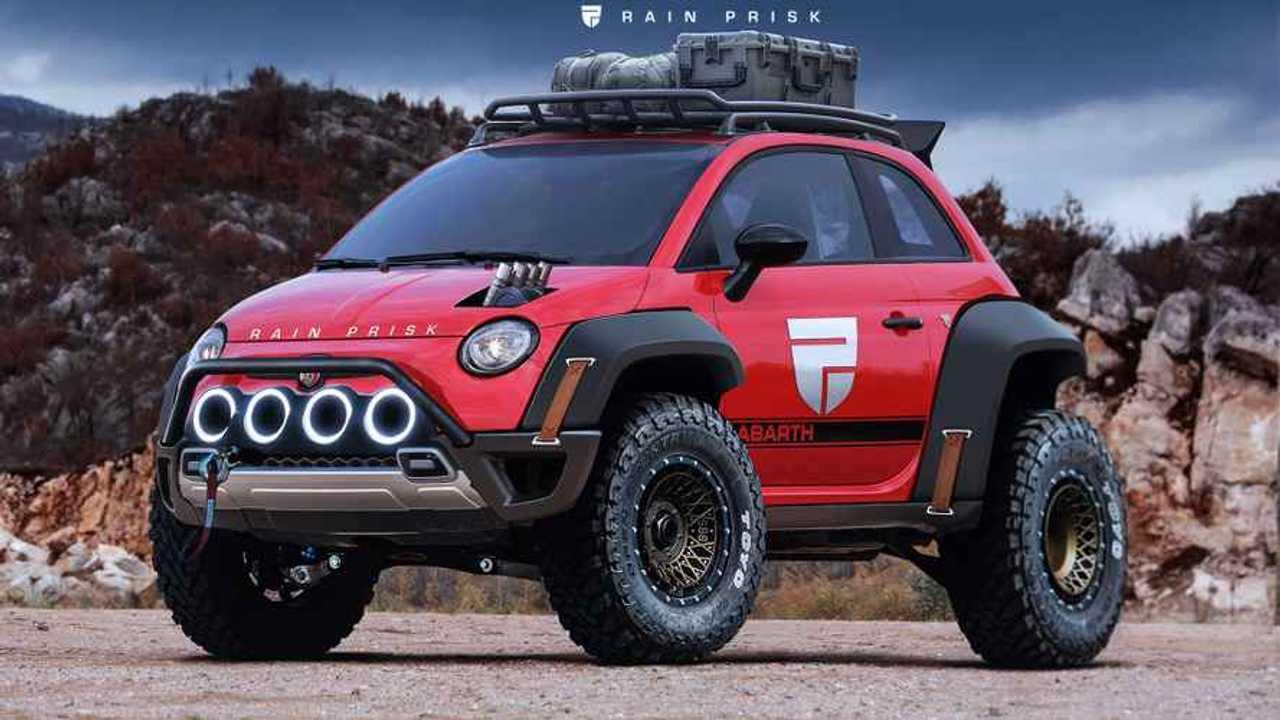 Fiat 500 XXL Rendering