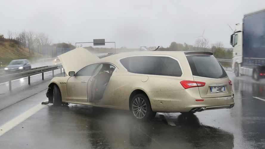 Maserati Quattroporte carro funebre, l'incidente in Germania